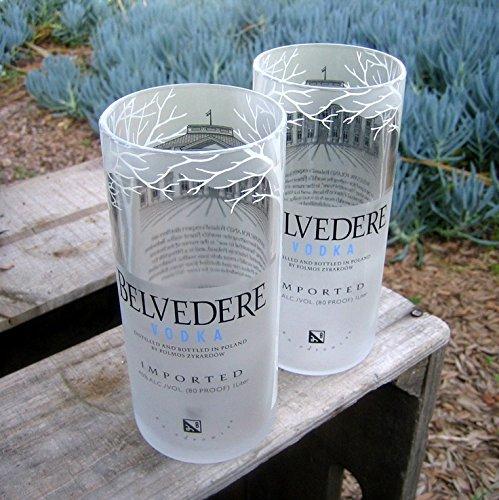 Lot de 2verres à vodka Belvedere Cadeau parfait pour design dintérieur