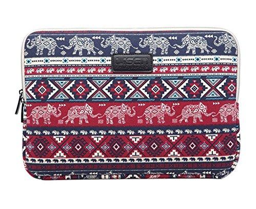 Off a college-valentoria ® 13.3inch laptop sleeve case-boheimian elefante estilo Ultrabook funda blanda para MacBook bolsa para Acer/Asus/Dell/Toshiba/Lenovo/MacBook Pro/MacBook Air rosso