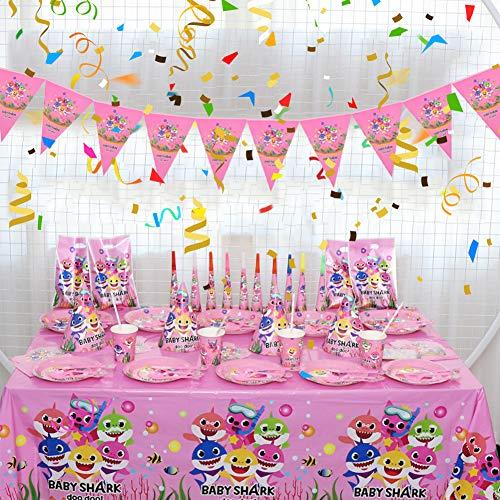 BESLIME Forniture for Feste di Compleanno for Bambini Cartone Animato A Tema Stoviglie USA E Getta Piatto di Carta Cappello Set di Tovaglie Adatto for Bambino Decorazioni USA e Getta