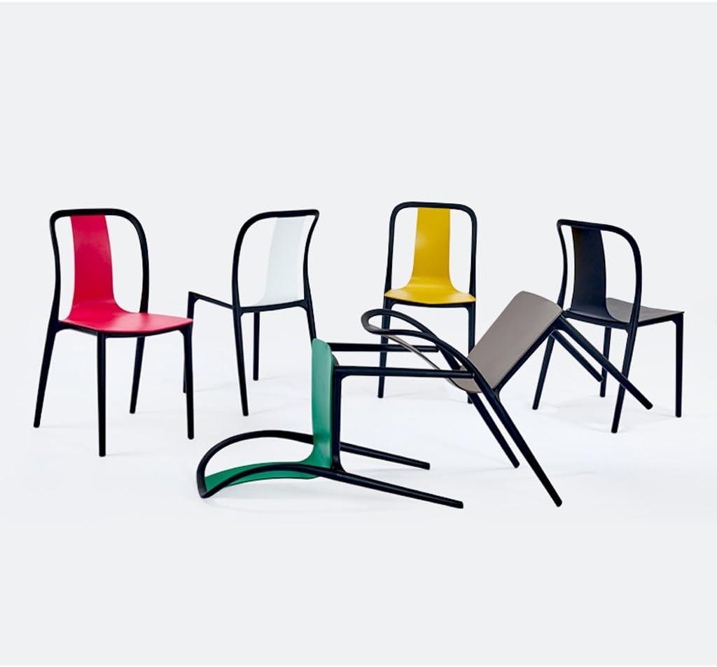 HXF- Moderne Simple décontracté à Manger Chaise à la Maison Chaise en Plastique Durable (Color : D) E