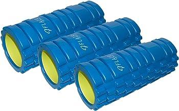 【アウトレット3本セット/ブルー】FLAIR (フレア) フォームローラー(ブルー) プロアスリートから運動初心者まで マッサージ・ストレッチに最適 肩こり・腰痛・姿勢改善に EVA素材・ABS樹脂素材使用