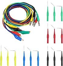 tatoko 4.0mm Banana Plug to Crocodile Alligator Clip Test Lead Wire Cable Set 1M//3.3ft 5PCS