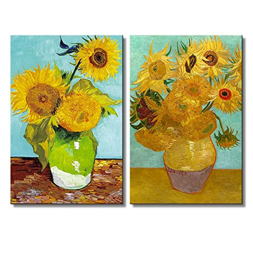 Wall26 - Sunflowers by Vincent Van Gogh - Oil Painting Reproduction in Set of