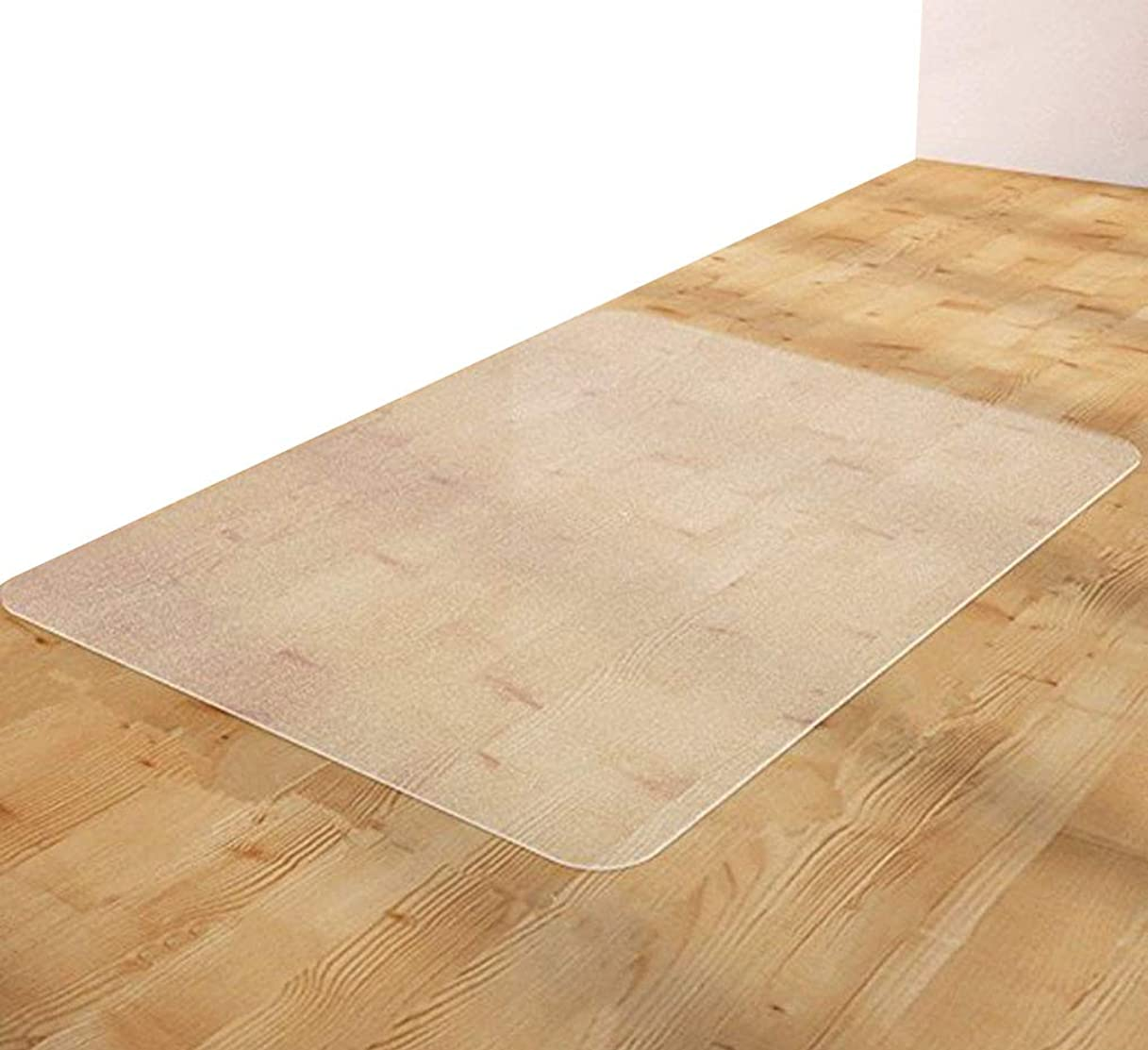 受け入れ音声学疾患EGROON PVC製 ホーム チェアマット ラグ カーペット マット 長方形 厚さ2mm 半透明 床保護マット チェアマット 汚れ防止 お手入れ簡単 撥水 耐久