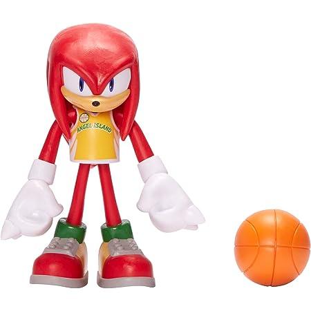 Sonic The Hedgehog Figura de acción de Juguete Coleccionable de Nudillos de 4 Pulgadas con Baloncesto