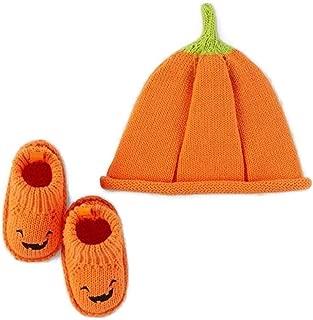 Carter's Pumpkin Halloween Hat and Bootie Set