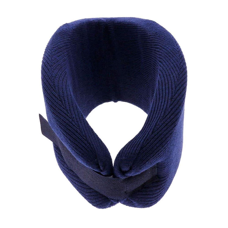 ことわざスラッシュ酸化物【頚椎ヘルニア】【ムチウチ】頸椎固定用 ソフトカラー:ブルー (M)
