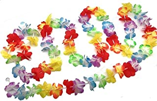 Bright Jumbo Flower Luau Party Lei Garlands (9 feet Each) Total of 27 Feet Luau Flower Garlands