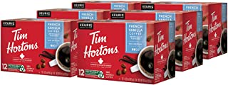 Tim Hortons French Vanilla Single Serve Coffee Cups, 72-Count (6 Boxes of 12Ct K-Cups)