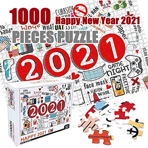 2021 Conmemorativa Puzzle,1000 Piezas Rompecabezas de Rompecabezas de Papel,To Relieve Stress,Regalo para Madre/Pareja/Novio, Apto para niños de 10, 11, 12 y más,70 * 50 cm