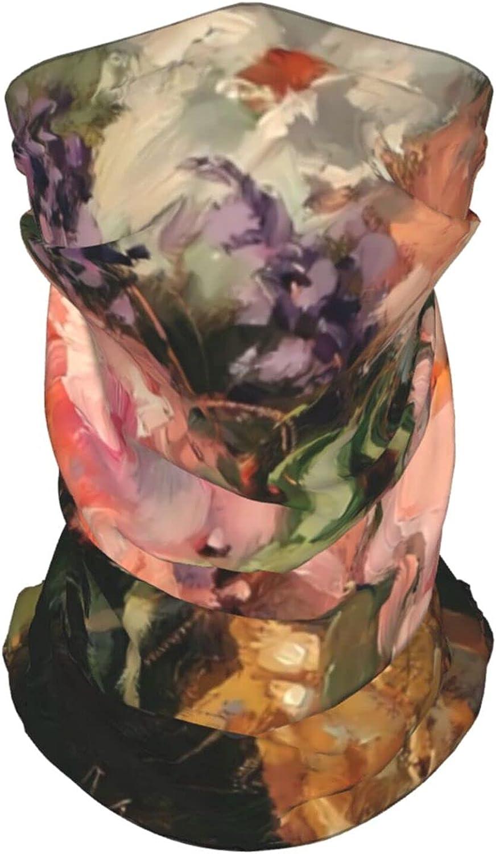 Flower Pattern1 Neck Gaiter Multipurpose Headwear Ice Silk Mask Scarf Summer Cool Breathable Outdoor Sport 4 Pcs