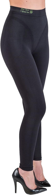 Slimming Anti-Cellulite Leggings with Aloe Tea Max 66% OFF Blac 5% OFF - Vera+Green