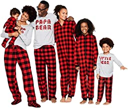Kehen Dad Mom Baby Kids Family Matching Christmas Plaid Pajamas Set Cotton Sleepwear