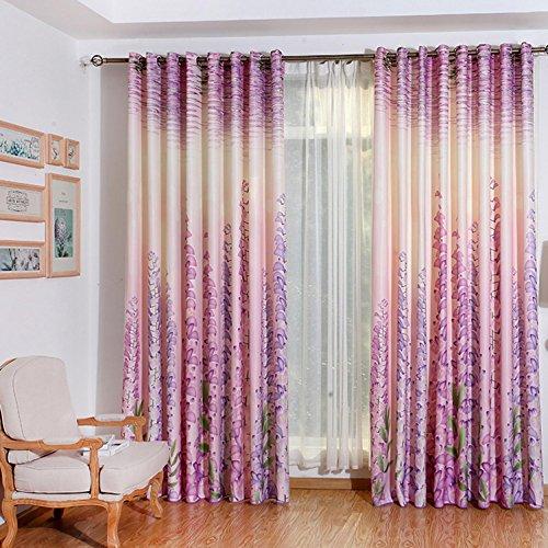 AINIJ 3D Blätter Digitaldruck Vorhänge beidseitig Bedruckte Muster, Vorhangstoff, Schatten Vorhänge, Jalousien, 1.5m