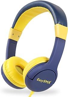 EasySMX 子供用 ヘッドホン キッズ用 ヘッドホン 密閉型 90g超軽量(黄色+紺色)