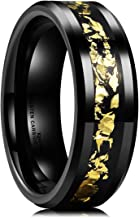 black tungsten with gold inlay