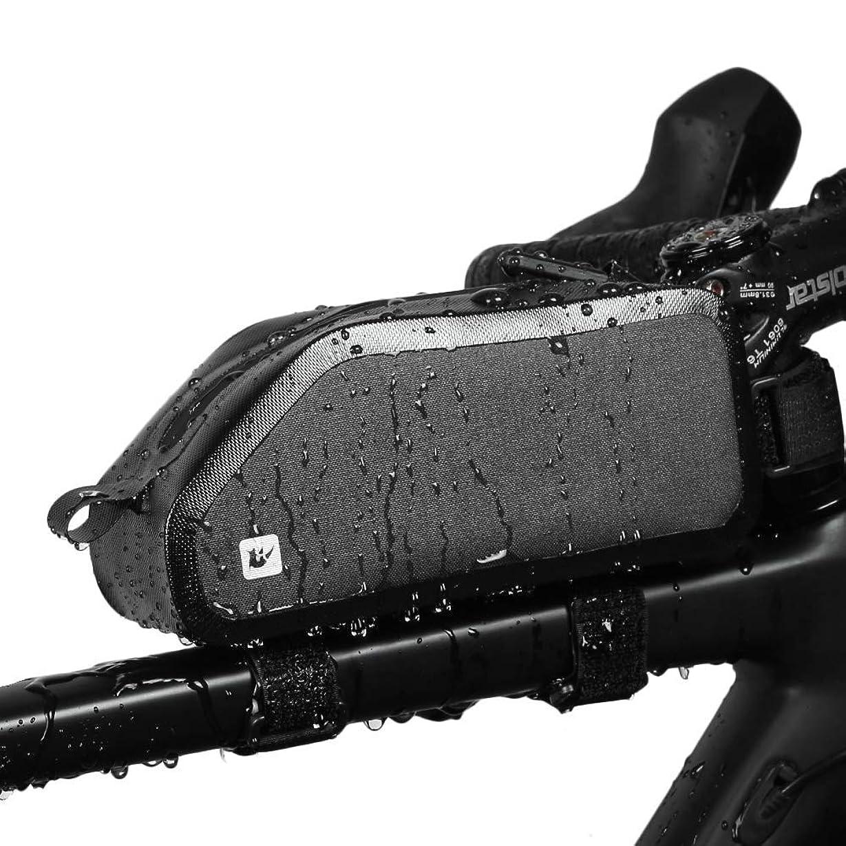 誕生受粉する後方にRhinowalk 自転車 トップチューブバッグ フレームバッグ サドルバッグ フロントバッグ サイドバッグ かんたん装着 防水 サイクリング用 カーボン