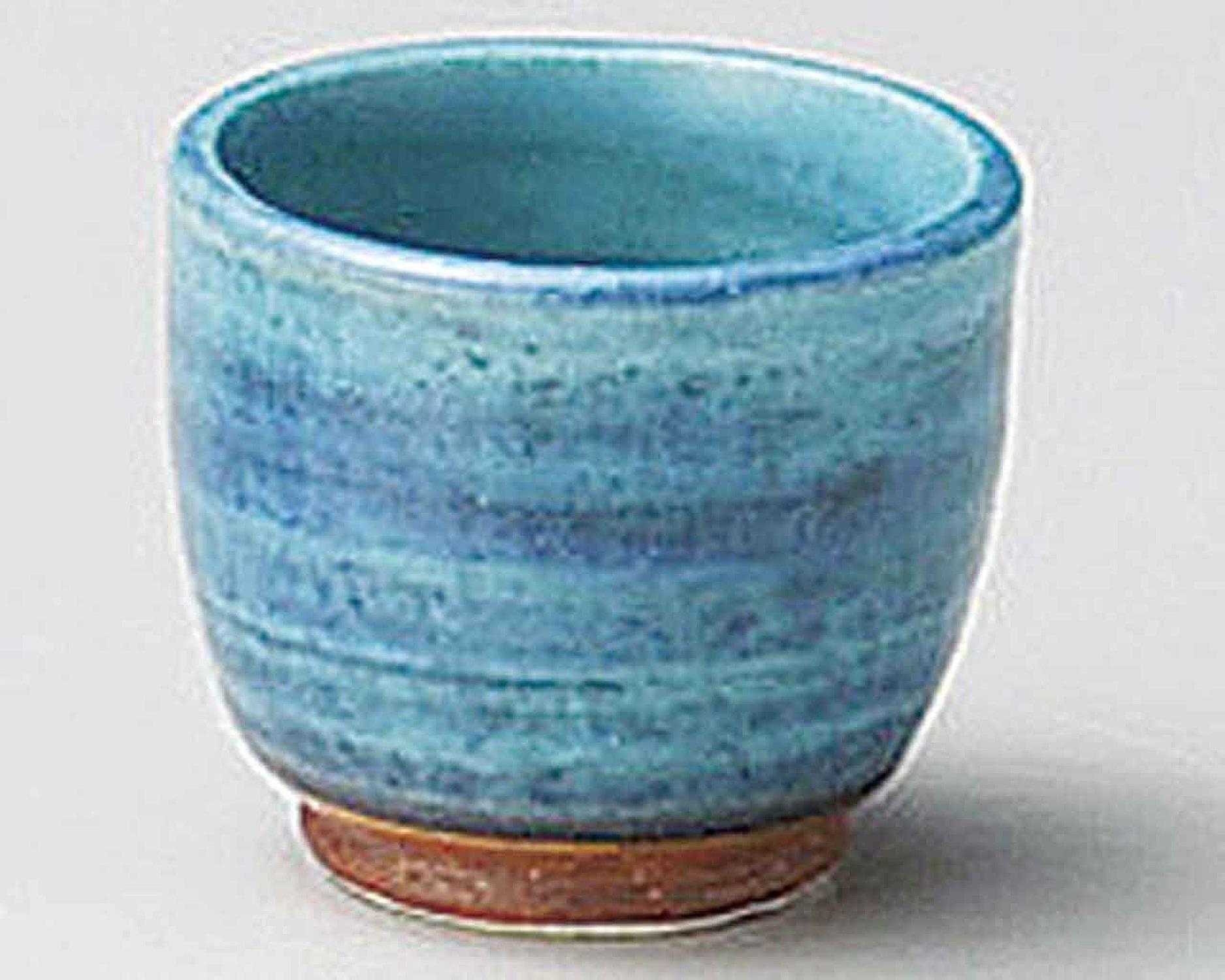 Turkish bleu 5.3cm Ensemble de 5 Sake Cups bleu Ceramic Originale Japonaise