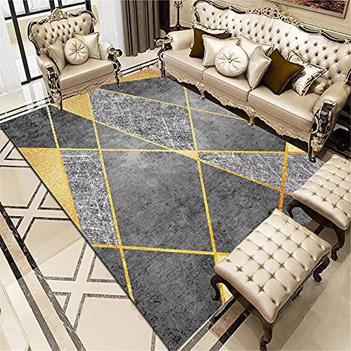 Bases Antideslizantes para alfombras la Alfombra Alfombra de la Sala de Estar Gris Rectangular Suave y cómoda defensora Alfombra niño 140X200CM 4ft 7.1' X6ft 6.7'