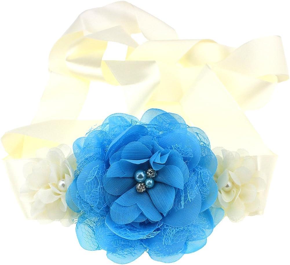 ChicChic Maternity Mom Baby Shower Flower Satin Ribbon Women's Bridal Sash Belt Bride for Wedding
