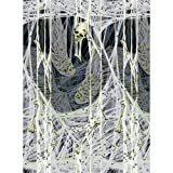 Amscan 678618  Party Decoration Spider's Lair Scene Setter Plastic Room Roll 48' x 40' Glow in the Dark