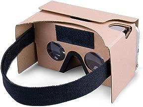 google di realtà virtuale 3d cuffie occhiali, diy cartone compatibile con 3-6inch schermo androide e apple smartphone