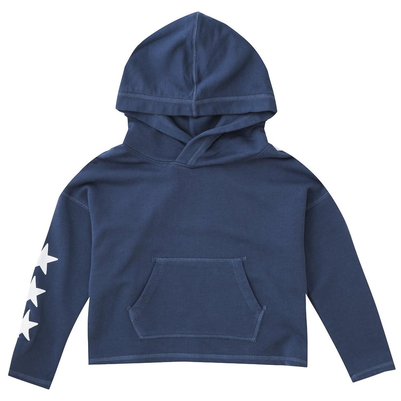 ポロ ラルフローレン キッズ トレーナー パーカー レディース フーディー DRAPEY TERRY-STAR HOODIE-TP-KNT GIRL (サイズ:M、カラー: NAVY) Polo Ralph Lauren [並行輸入品]