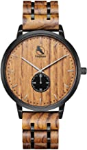 Sponsored Ad - Wooden Watch, Wood Watches for Men Minimalist Wristwatch in Engraved Wood Box