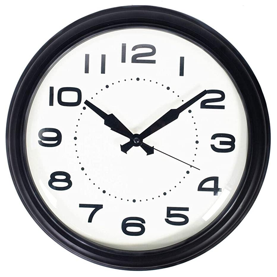 磁気側面ぜいたくクロックウォールクロックノンチックバッテリ駆動ヨーロッパのシンプルなリビングルームの装飾サイレントベッドルームクォーツ時計ブラック&家庭用時計