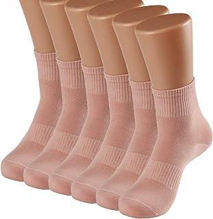 جوارب للكاحل للنساء طاقم صغير رياضي لكل يوم قطن رياضي كاجوال كلاسيكي (6 أزواج)