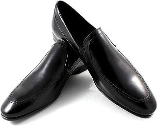 CANNERI Mocassino Uomo Nero - 7446 - Scarpa Classica - Scarpa College - Scarpa da Slittamento per Il Tempo Casuale e Busin...