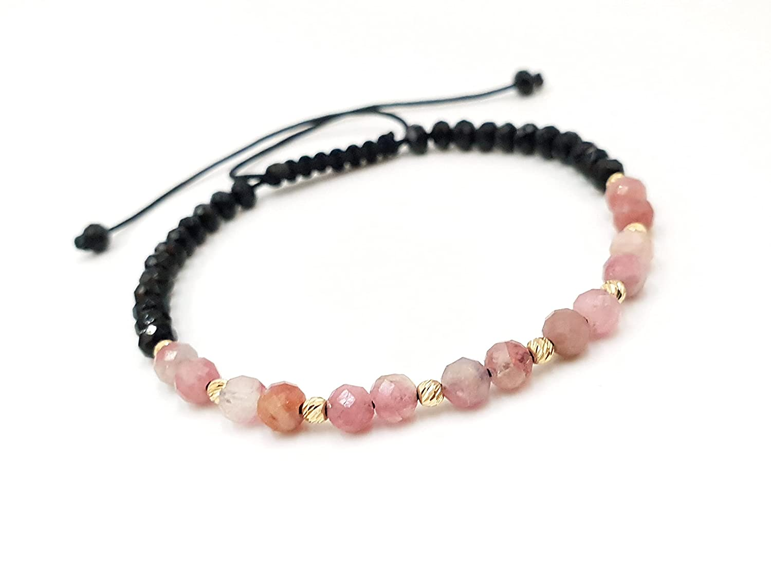 Don't miss the campaign 14k Yellow SOLID GOLD Bracelet discount Bracelets Natural Gold Beaded and