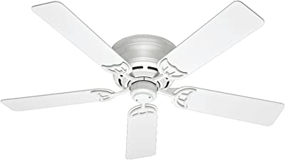 Hunter Indoor Low Profile III Ceiling Fan with Pull Chain Control