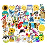 Mai Zi Vsco Stickers for Water Bottles 50 pcs Laptop Stickers Waterproof Stickers Pack Cute Aesthetics Stickers for Teens Girls (50 Pieces Series 01)