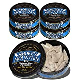 Smokey Mountain Pouches - Arctic Mint - 5 Cans - Nicotine-Free and Tobacco-Free