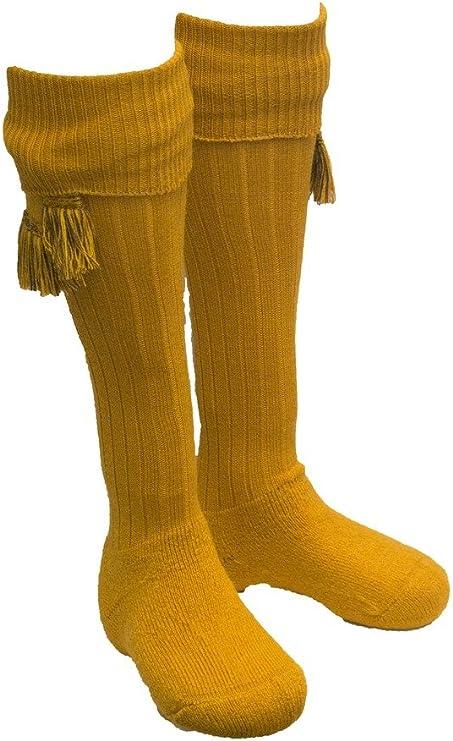 Edwardian Men's Fashion & Clothing 1900-1910s Walker and Hawkes Mens Shooting Country Scarba Socks & Matching Garter Ties  AT vintagedancer.com