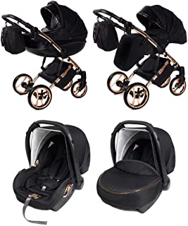 SaintBaby passeggino Daytona GT 2in1 3in1 Isofix seggiolino per bambini combi passeggino buggy Copper Mine 02 3in1 con Ovetto