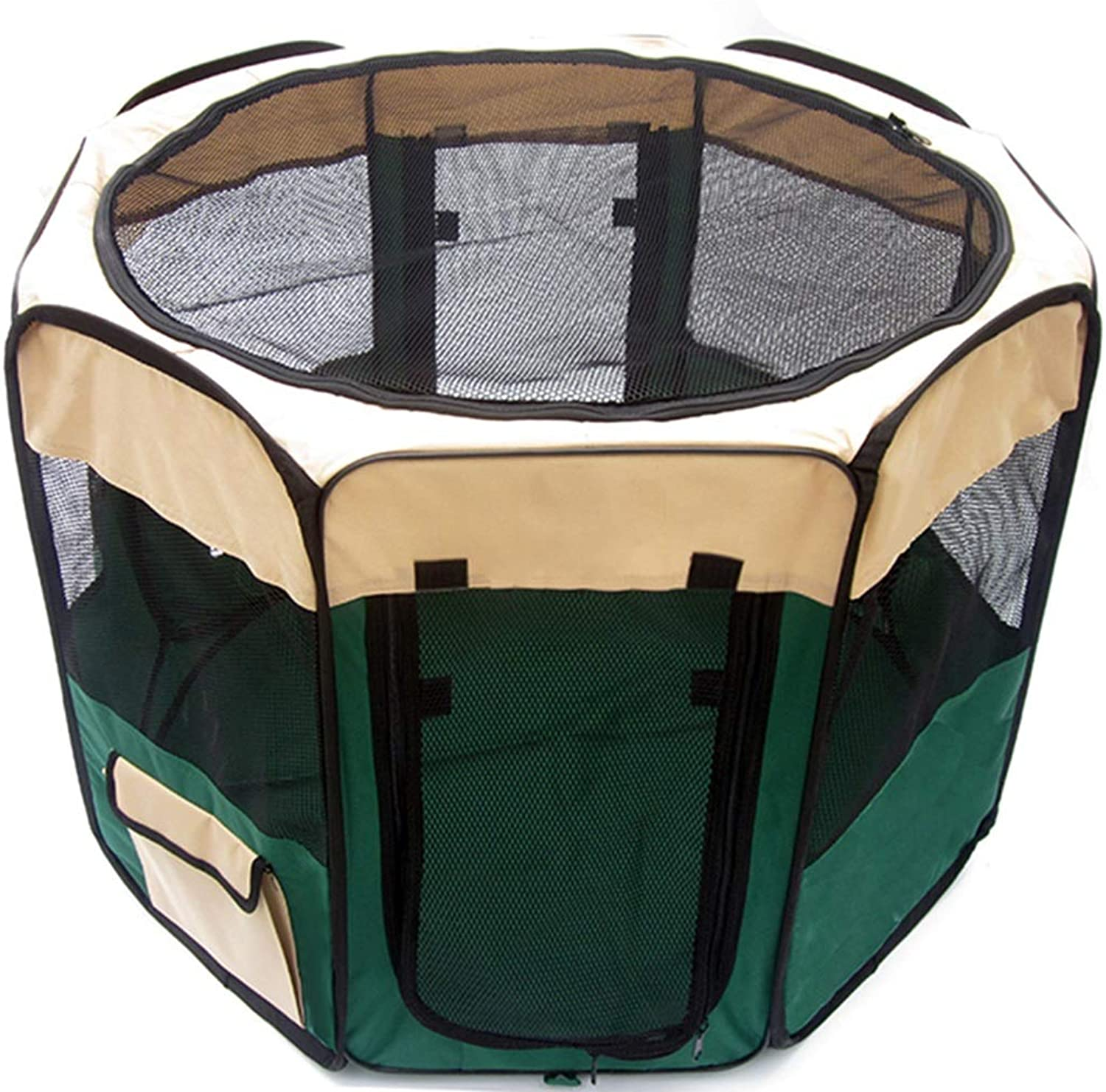 QIQI Pet Supplies Pet Playpen Tent Dog Cage Portable Breathable Pet Kennel For Indoor Outdoor Use (color   GREEN, Size   90  90  60cm)