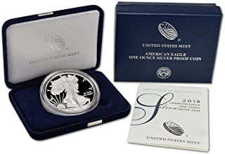 2018 W Proof American Eagle Silver Dollar with Original Packaging and COA $1 PR DCAM US Mint