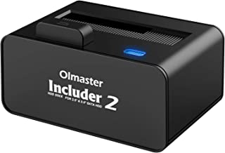 OImaster USB 3.0 to SATA Hard Drive Docking Station with Pop Up Button, 2.5 or 3.5-inch HDD SSD External Hard Drive Dockin...