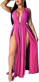 Women's Sexy Beachwear Swimsuit Cover up Swimwear Bikini Split Long Maxi Dresses