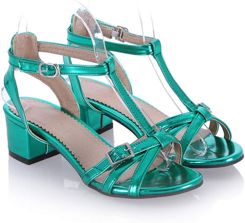 GAO-GEN1 Women Sandals Simple Buckle Classic Solid Summer shoes Comfortable Square Heel Elegant peep Toe shoes