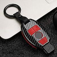 ZHANGXX カーボンファイバーマットカーキーケース。メルセデスベンツの場合BGAAMG W203 W210 W211 W124 W202 W204 W205 W212 W176EクラスW2132018Sクラス格好良い、保護する