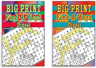 Digest Word Search Books Large Print for Adults and Kids