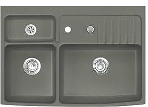 Systemceram Centra 90 Lava keramische gootsteen Excenterbediening keramische spoelbak module