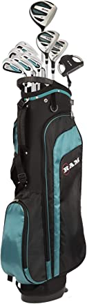 RAM Golf EZ3 Ladies Petite Golf Clubs Set with Stand Bag - Graphite/Steel Shafts (Graphite/Steel, Right)