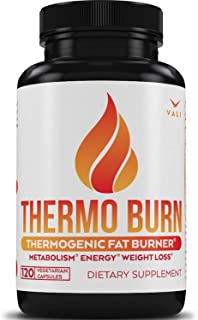 Thermogenic Burn Weight Loss Supplement - 120 Veggie Pills. All Natural Caffeine for Energy & Increased Thermo Burn for Women & Men. Extra Strength Booster with Green Tea, B-Vitamins. Non-GMO & Vegan