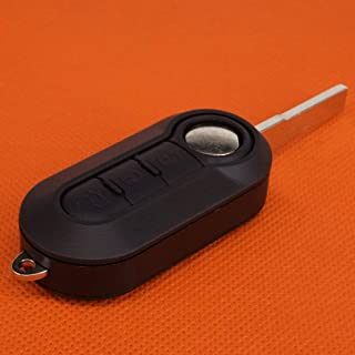 CHUN-Accessory - ABS 3 Buttons Car Remote Flip Key Shell Case Fob Fit for Fiat 500 Stilo Brava Punto Panda