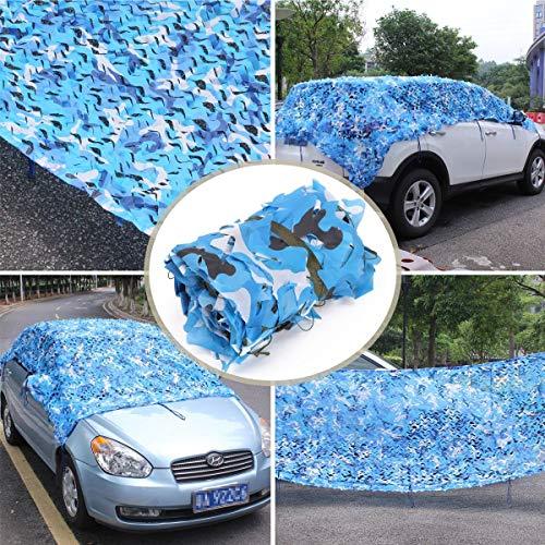 Filets solaires de camping, Camouflage Soleil Filet de Camouflage Bleu Marine 8x8m, de Tissu De Camouflage en Tissu Oxford, Abri de Voiture Militaire, Camouflage, Camping, Chasse, Tir, Caché, Hallowee