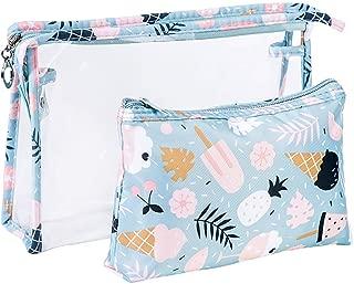 Bageek 2PCS Makeup Bag Cute Cartoon Printed Waterproof Travel Cosmetic Storage Bag for Travel